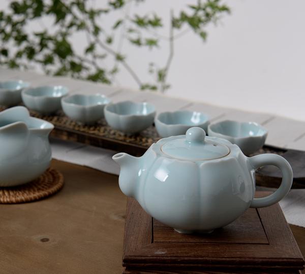 蓮瓣茶具(粉青)