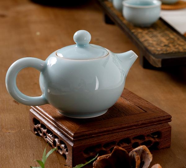 大圓壺茶具(粉青)