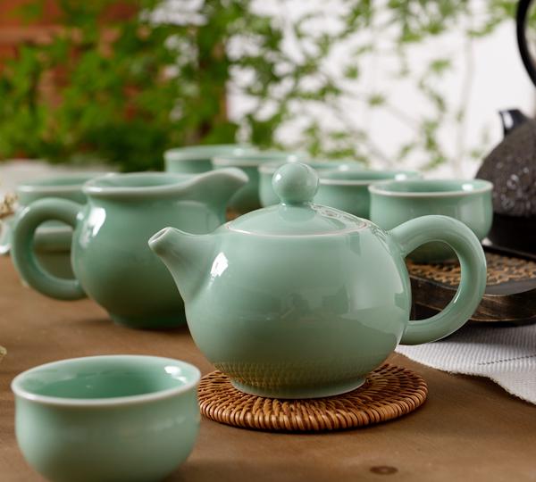 大圓壺茶具(梅子青)
